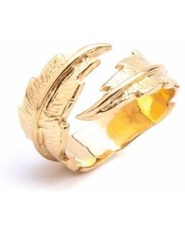 Feather Open Ring