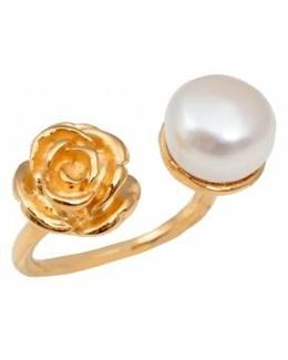 Rose White Pearl Ring