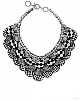 Black & White Nefertiti Necklace