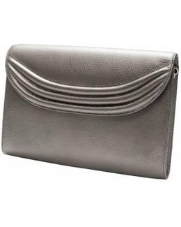 Stretta Metallic Leather Shoulder Bag