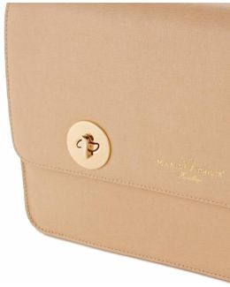 Issoria Peach Leather Clutch