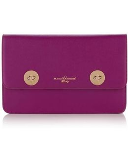 Issoria Dark Pink Leather Clutch