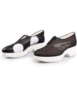Printed Mesh Zl Ball Platform Shoe