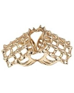 Cage And Studs Articulated Bronze Ring