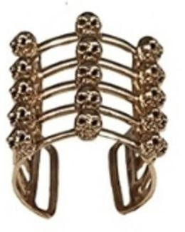 Cage And Skulls Bronze Ring
