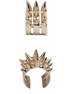 Triple Spike Bronze Ring