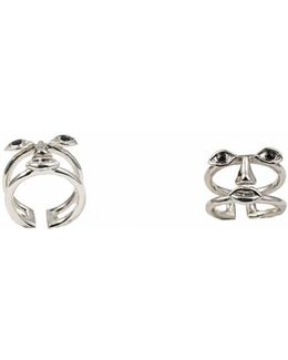 Osvaldo Face Silver Ring