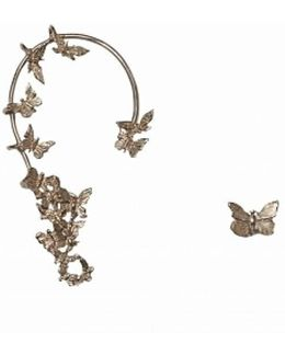 Bronze Butterflies Ear Cuff And Earring