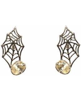 Web Bronze Earrings