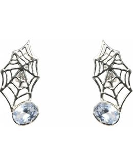Web Silver Earrings