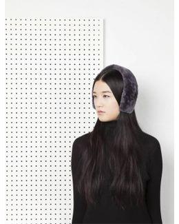 Cleo Merino Lamb Fur Headband - Grey