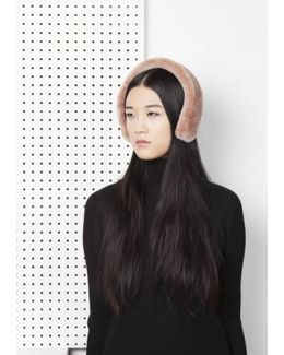 Cleo Merino Lamb Fur Headband - Almond