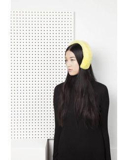 Cleo Merino Lamb Fur Headband - Lemon