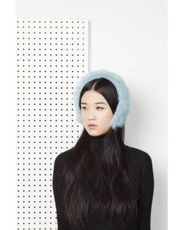 Cleo Merino Lamb Fur Headband - Aqua