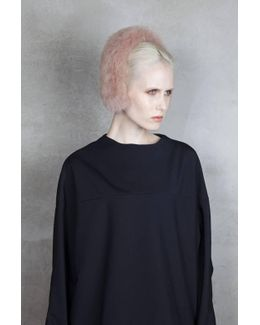 Magda Fur Headband - Almond