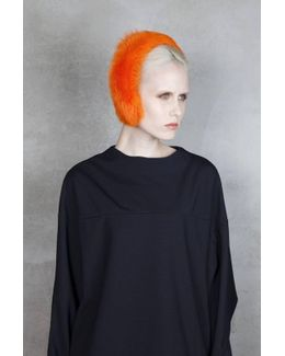 Magda Fur Headband - Orange