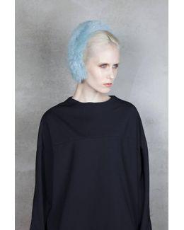 Magda Fur Headband - Aqua