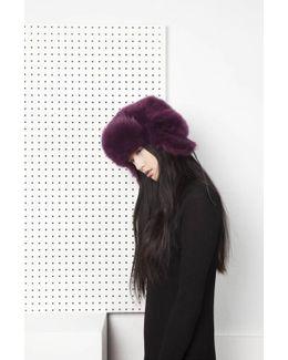 Glass Fur Hat - Purple