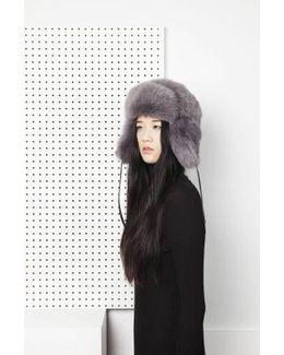 Glass Fur Hat - Grey