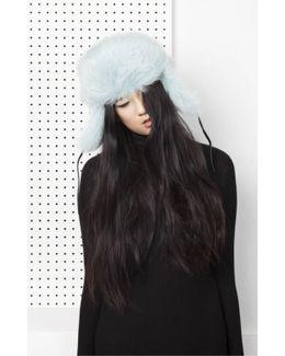 Glass Fur Hat - Aqua