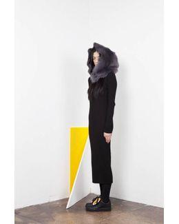 Skia Fur Hood - Grey