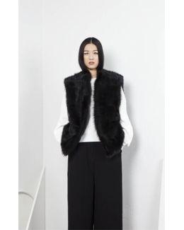 Dozzy Fur Vest - Black