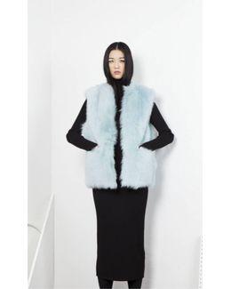 Dozzy Fur Vest - Aqua