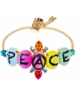 Peace Mini Chain Bracelet