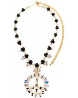 Make Fashion Not War Rosary Necklace