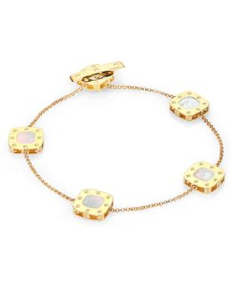 Pois Moi Mother-of-pearl & 18k Yellow Gold Station Bracelet