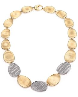 Lunaria Diamond & 18k Yellow Gold Three-station Collar Necklace