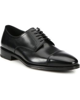 Mabel Cap Toe Leather Oxfords