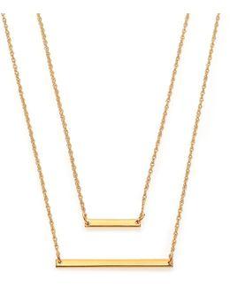 Cynthia Bar Double-wrap Necklace
