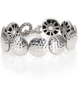 Palu Sterling Silver Disc Toggle Bracelet