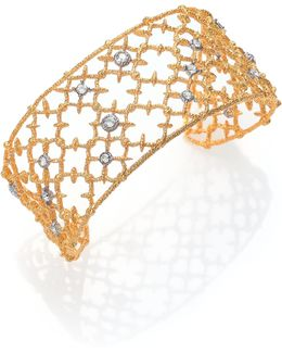 Elements Gilded Muse Crystal Small Spur Lace Cuff Bracelet