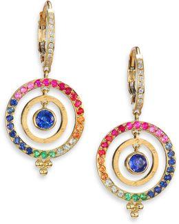 Celestial Multicolor Sapphire, Diamond & 18k Yellow Gold Piccolo Tolomeo Drop Earrings