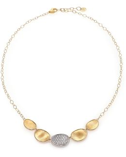 Lunaria Diamond & 18k Yellow Gold Necklace