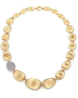 Lunaria Diamond & 18k Yellow Gold Single-station Collar Necklace