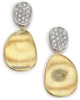 Lunaria Diamond & 18k Yellow Gold Small Drop Earrings