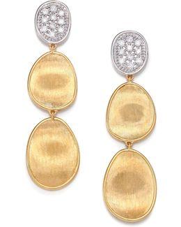 Lunaria Diamond & 18k Yellow Gold Triple-drop Earrings