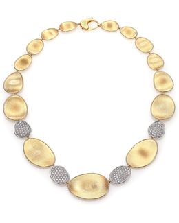 Lunaria Diamond & 18k Yellow Gold Four-station Collar Necklace