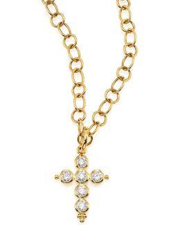 Classic Diamond & 18k Yellow Gold Cross Pendant