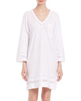 Open-work Cotton Short Gown