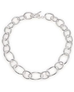 Glamazon Sterling Silver Oval Link Necklace