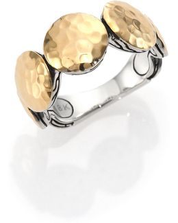Palu 18k Yellow Gold & Sterling Silver Disc Band Ring