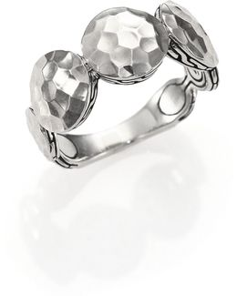 Palu Sterling Silver Disc Band Ring