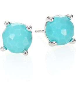 Rock Candy Turquoise & Sterling Silver Stud Earrings