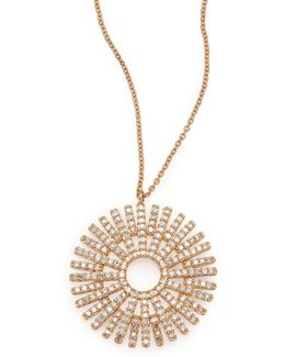 Rising Sun Diamond & 14k Yellow Gold Pendant Necklace
