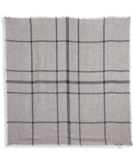 Big Check Modal & Wool Scarf