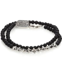 Double-wrap Lava Rock Bracelet